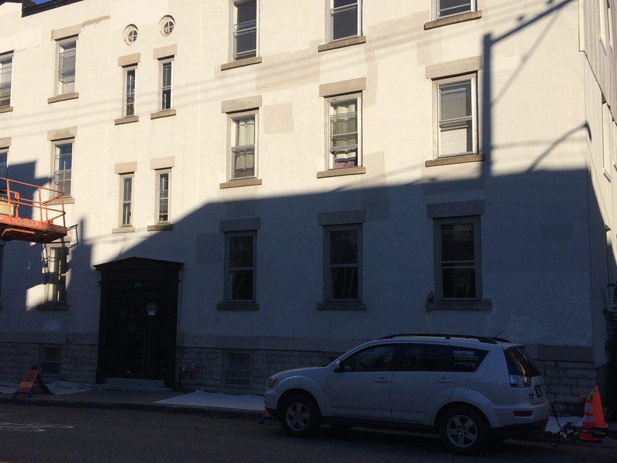 Peinture façade immeuble à logements – Ville de Québec
